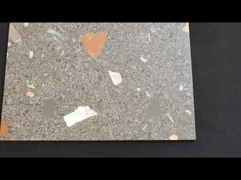 Gres szkliwiony hiszpański Arcana Ceramica Stracciatella-R Grafito 80x80 gat. I