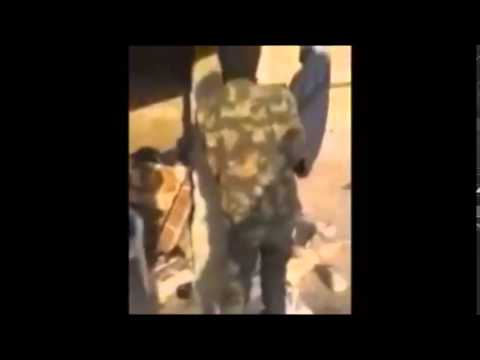 Uzbek soldiers having the time of their lives in an active warszone
