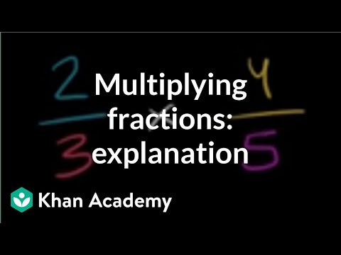 Intro to multiplying 2 fractions (video) | khan academy.