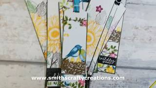 Handmade Bookmark Ideas Using Birds & Branches By Stampin Up! And My Thank You Gifts For Fundraiser