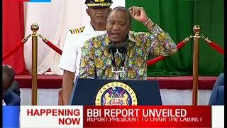 Uhuru Kenyatta officially unveils the BBI Report |FULL SPEECH