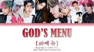 [ROM/ENG/INDO] Stray Kids - God's Menu (神메뉴) ~ Color Coded Lyrics
