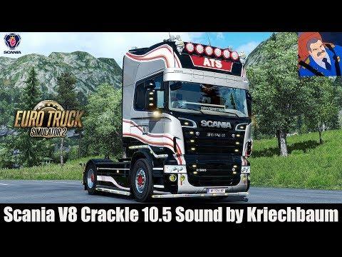✅ ETS2 1 30 - Scania V8 Crackle 10 5 Sound by Kriechbaum