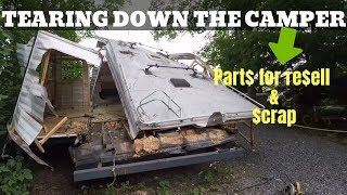 Finishing off my RV camper tear down. Parting it out for big profit.