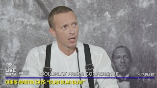 Coldplay: Everyday Life - Live in Jordan press conference