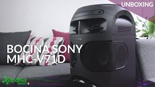Minicomponente Sony, UNBOXING y PRIMERAS IMPRESIONES: práctica conectividad y luces 360