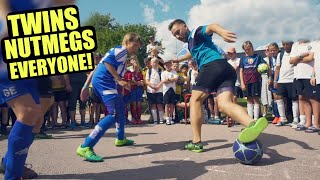 Twins NUTMEGS Everyone! 🤯⚽️ (Mbappé/Neymar/Ronaldo Skill Style)