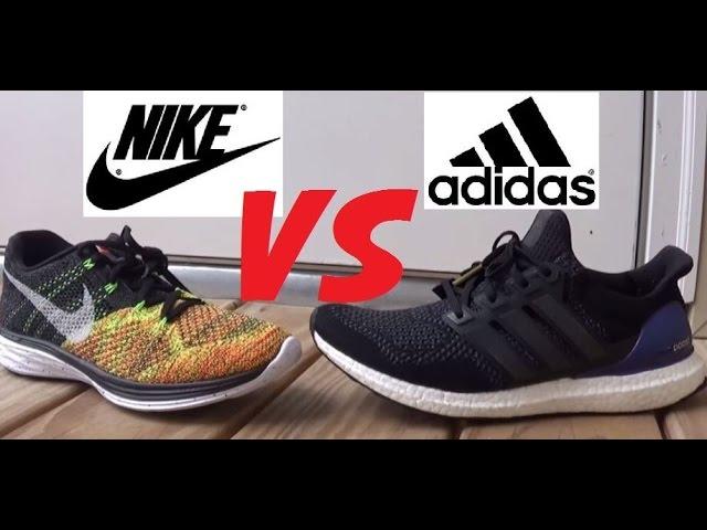 adidas ultra boost vs nike flyknit air max
