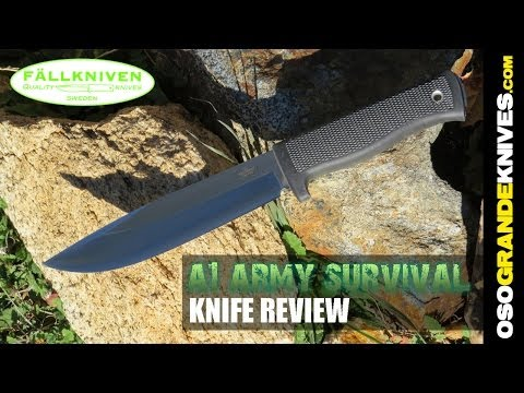 Fallkniven A1 Army Survival Knife Review | OsoGrandeKnives