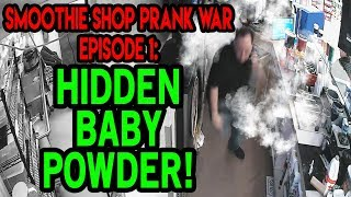 Smoothie Shop Prank War Episode 1: Hidden Baby Powder