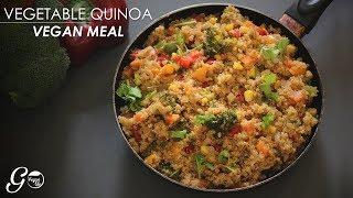 Vegan Quinoa Recipe l One Pot Vegan Vegetable Quinoa Recipe l Vegan Meal Made Easy