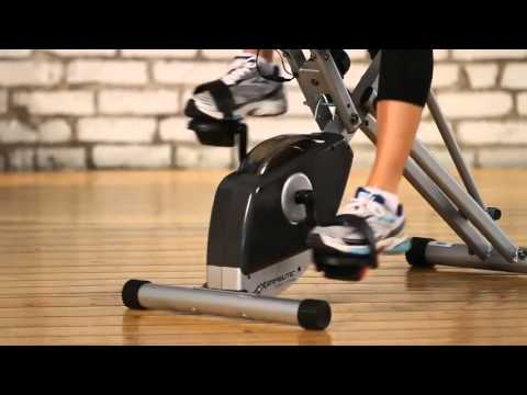 Exerpeutic 400XL Folding Semi Recumbent Bike