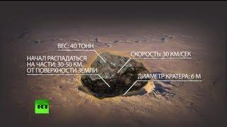 В результате падения метеорита пострадали 1200 человек