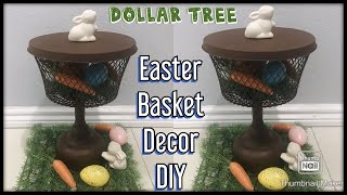 Dollar Tree Easter Basket Decor Diy / Dollar Store Spring Decoration Ideas / Basket Ideas