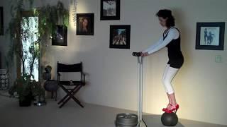 Stiletto Heels / Medicine Ball Challenge