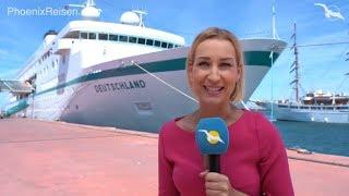 MS Deutschland: Schiffsrundgang & Kreuzfahrt-Stopp in Sevilla & Lissabon