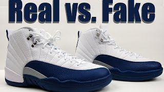 Real vs. Fake Air Jordan 12 French Blue 2016 Legit Check | Kholo.pk