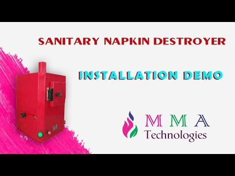Wall Mountable Sanitary Napkin Disposal Machine