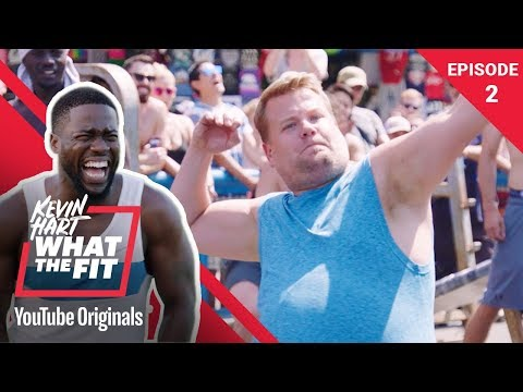 Muscle Beach With James Corden | Kevin Hart: What The Fit Episode 2 | Laugh Out Loud Network (видео)