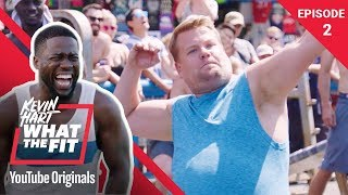 Muscle Beach With James Corden | Kevin Hart: What The Fit Episode 2 | Laugh Out Loud Network - Video Youtube