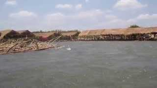 preview picture of video 'Swiming in Mekong River with rapids at Kampi near Kratie - Cambodia'