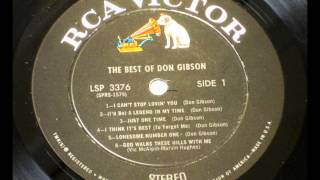 ( I'd Be ) A Legend In My Time   Don Gibson , 1960 Vinyl