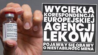 Wyciek korespondencji Europejskiej Agencji Leków! Pytania o stabilność mRNA pozostają bez odpowiedzi