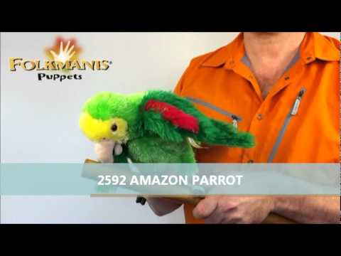 plyšový Papoušek amazoňan