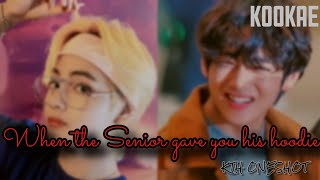 When the Senior gave you his hoodie or jacket ||• KTH ONESHOT•||