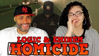 MY DAD REACTS TO Logic   Homicide Ft. Eminem REACTION