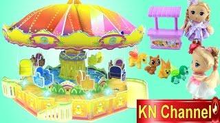 Đồ chơi trẻ em XÍCH ĐU QUAY CỦA BÚP BÊ | FLYING SWING Trò chơi trong công viên KN Channel Kids toys