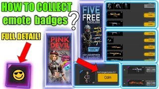 How To Collect Emote Badges , Exchange Pink Devil Costume || Free Fire New Watch Ads & Earn Token