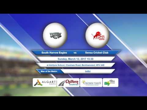 Video South Harrow Eagles VS Sensa Cricket Club - 12-Mar-2017