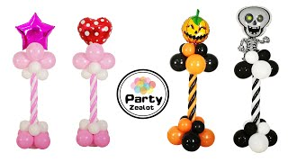 DIY Spiral Pattern Balloon Column Stand By Party Zealot