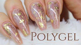 ♡ How To: Bronze & Gold Polygelnails