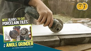 How To Cut Porcelain Tiles by Hand with Grinder without Chipping. Testing Diamond Blades 4 Tiling