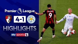 SUBSCRIBE ► http://bit.ly/SSFootballSub PREMIER LEAGUE HIGHLIGHTS ► http://bit.ly/SkySportsPLHighlights Highlights from the Premier League as Dominic Solanke broke his goal-drought to help Bournemouth pull off a heroic second-half come back against Leicester City.  Watch Premier League LIVE on Sky Sports here ► http://bit.ly/WatchSkyPL ►TWITTER: https://twitter.com/skysportsfootball ►FACEBOOK: http://www.facebook.com/skysports ►WEBSITE: http://www.skysports.com/football  MORE FROM SKY SPORTS ON YOUTUBE: ►SKY SPORTS CRICKET: https://bit.ly/SubscribeSkyCricket ►SKY SPORTS BOXING: http://bit.ly/SSBoxingSub ►SOCCER AM: http://bit.ly/SoccerAMSub ►SKY SPORTS F1: http://bit.ly/SubscribeSkyF1