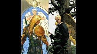 Michael vs Lucifer Morningstar- DC Comics