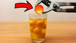 EXPERIMENT Glowing 1000 degree METAL BALL vs EGGS