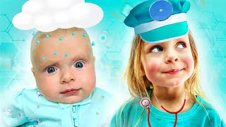 Maya chooses a profession for kids with little baby Mary