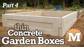 Make Thin CSA Concrete Garden Boxes PART 4 - Cast Garden Forms
