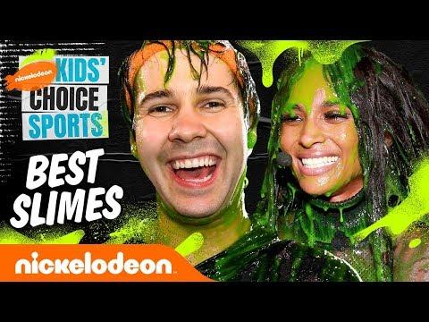 Best Slimes of KCS ft. JoJo Siwa, David Dobrik & Ciara! | #KidsChoiceSports