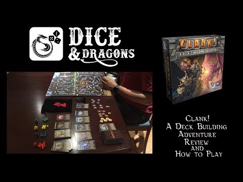 Dice and Dragons - Clank! A Deck Building Adventure Review and How to Play