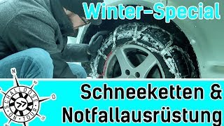 Plötzlicher Wintereinbruch! Schnee-Spezial || Schneeketten & Notfallausrüstung || SCHALLDOSE ON TOUR