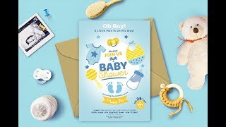 How to design an invite  / Baby Shower invitation