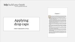 Applying Drop Caps