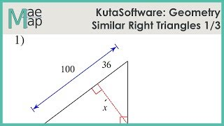 KutaSoftware: Geometry- Similar Right Triangles Part 1