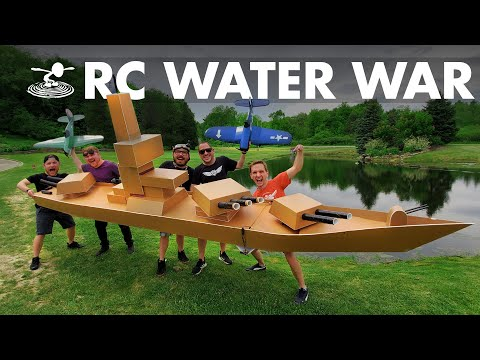 largest-rc-battleship-vs-rc-dive-bombers