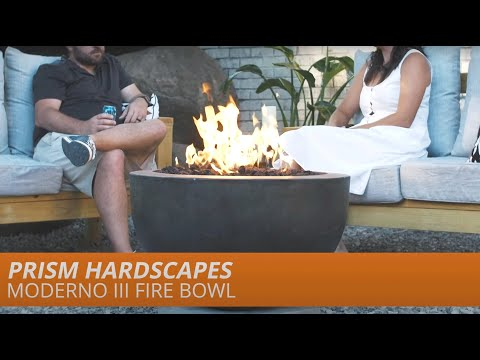 Moderno III Gas Fire Bowl by Prism Hardscapes