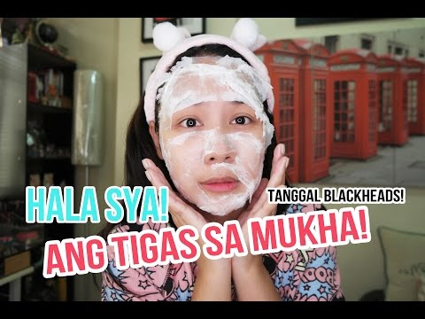 Moisturizing facial mask na may kulay-gatas